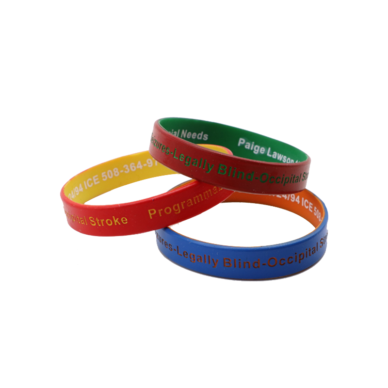 Color Coat Double Layer Silicone Wristbands