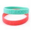 Custom Logo Embossed Non Color Silicone Wristands