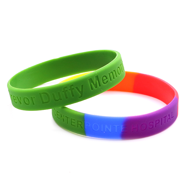Skyee wholesale Debossed silicone wristband custom silicone bracelets for sale