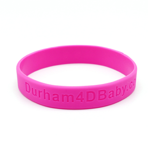 Skyee Custom Logo OEM Debossed Silicone Bracelet For Promotional Gift