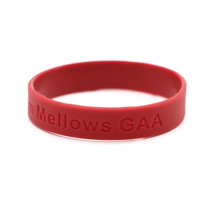 Skyee Free Sample Promotional debossed none color filled silicone wristbands