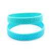 Skyee Wholesale No Minimum Debossed Silicone Bracelet Free Shipping