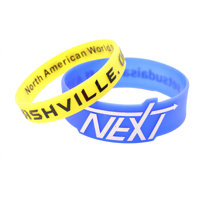 skyee Cheap Embossed Printing Silicone Rubber Wristband
