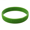 Skyee embossed print silicone wristband bracelet with custom design