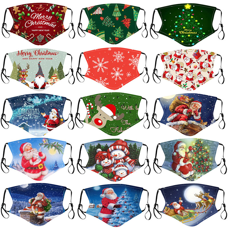 Wholesale kids adults printed christmas face protect mask for sale