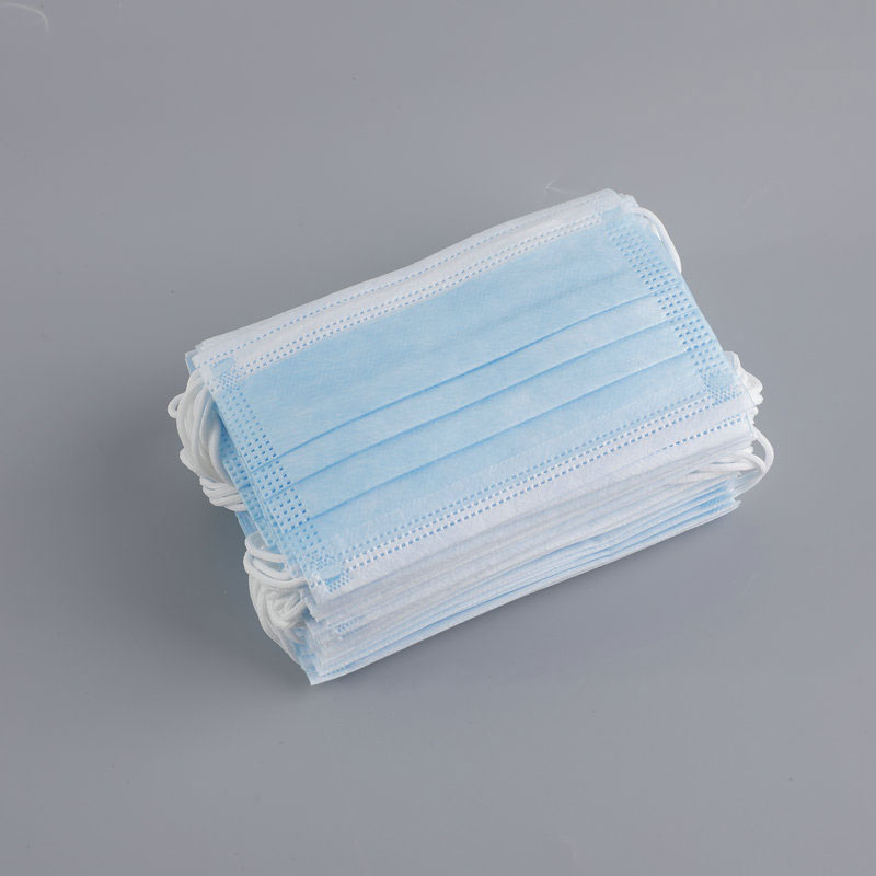 Independent package disposable 3-layer protective mask with meltblown cloth